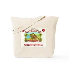 Tampa Jewels Vintage Cigar Ad Tote Bag