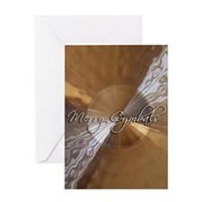 merry cymbals Greeting Card