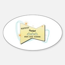 Instant Paralegal Oval Decal