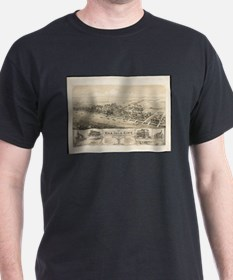 Vintage Pictorial Map of Sea Isle City NJ T-Shirt