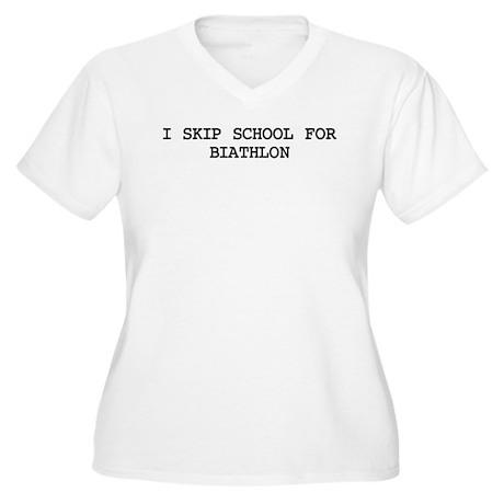 Skip school for BIATHLON Women's Plus Size V-Neck