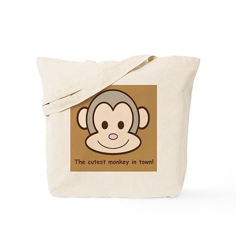 Cute Monkey Tote Bag