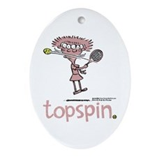 Groundies - Topspin Oval Ornament