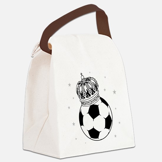 Soccer Royalty Canvas Lunch Bag