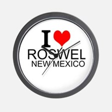 I Love Roswell, New Mexico Wall Clock