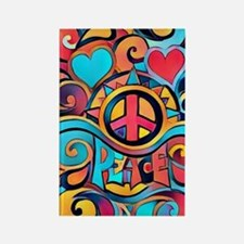 Colorful Hippie Art Magnets