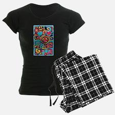 Colorful Hippie Art Pajamas