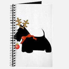 Scottie Dog Reindeer Journal