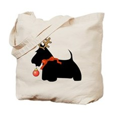 Scottie Dog Reindeer Tote Bag