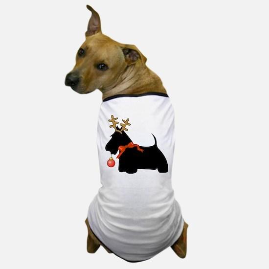 Scottie Dog Reindeer Dog T-Shirt