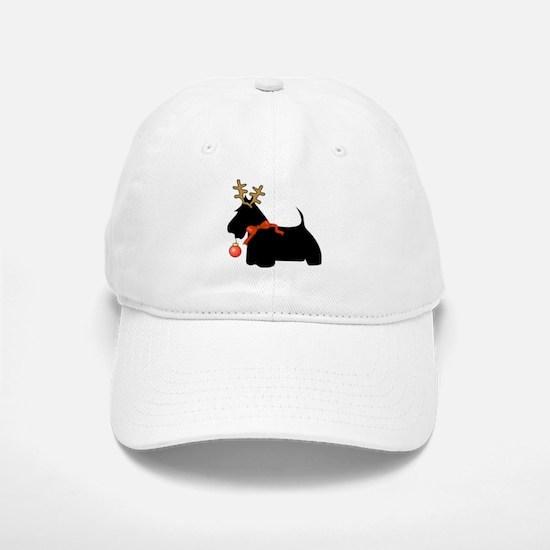Scottie Dog Reindeer Baseball Baseball Cap