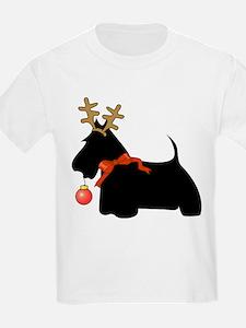 Scottie Dog Reindeer T-Shirt
