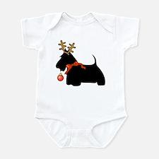 Scottie Dog Reindeer Infant Bodysuit