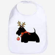 Scottie Dog Reindeer Bib
