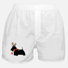 Scottie Dog Reindeer Boxer Shorts
