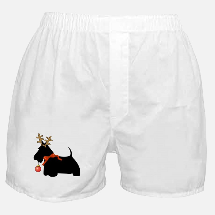 Scottie Dog Reindeer Boxer Shorts