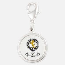 Badge - Chattan Silver Round Charm