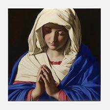 Virgin Mary Tile Coaster