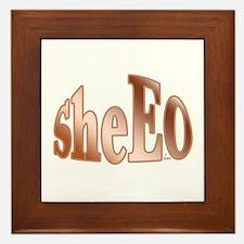 She EO Framed Tile