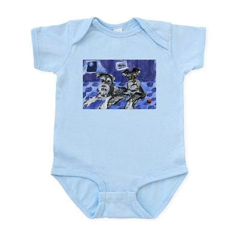 SCHNAUZER pair Design Infant Creeper