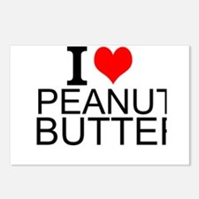 I Love Peanut Butter Postcards (Package of 8)