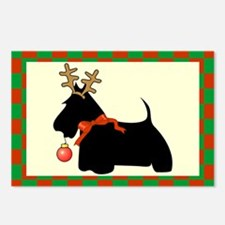 Scottish Terrier Christmas Postcards (Package of 8