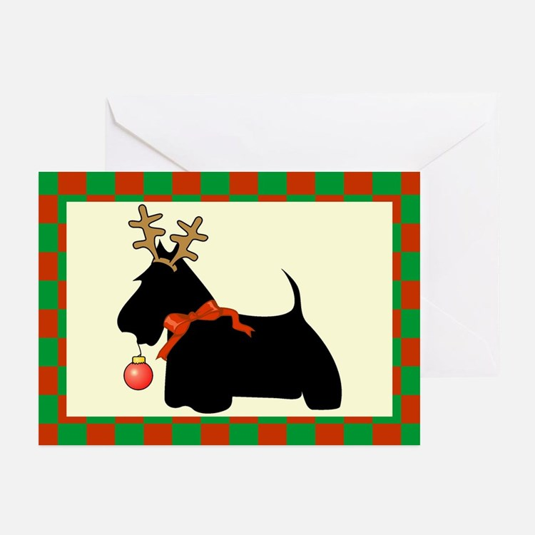 Scottish Terrier Christmas Greeting Cards (Pk of 1