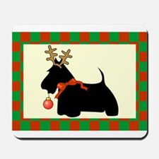 Scottish Terrier Christmas Mousepad
