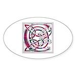 Monogram - Chisholm Sticker (Oval 10 pk)