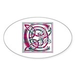 Monogram - Chisholm Sticker (Oval 50 pk)