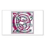 Monogram - Chisholm Sticker (Rectangle)