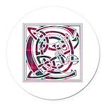 Monogram - Chisholm Round Car Magnet