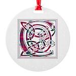 Monogram - Chisholm Round Ornament