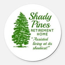 SHADY PINES Golden Girls Round Car Magnet