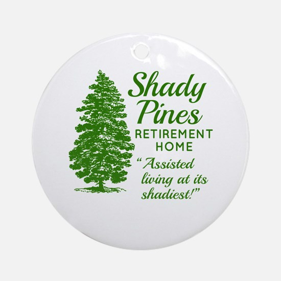 SHADY PINES Golden Girls Round Ornament