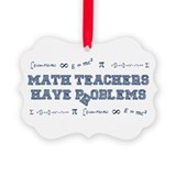 Algebra teachers Picture Frame Ornaments