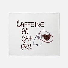caffeine prescription Throw Blanket