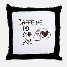 caffeine prescription Throw Pillow