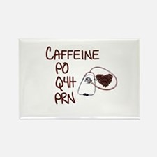 caffeine prescription Rectangle Magnet