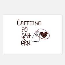 caffeine prescription Postcards (Package of 8)