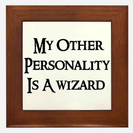 Wizard Personality Framed Tile