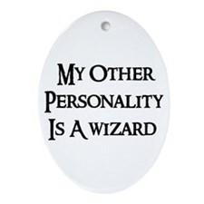 Wizard Personality Oval Ornament