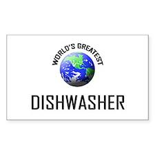 World's Greatest DISHWASHER Rectangle Decal