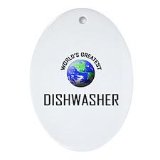 World's Greatest DISHWASHER Oval Ornament
