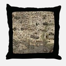 Vintage Map of Hampshire England (157 Throw Pillow
