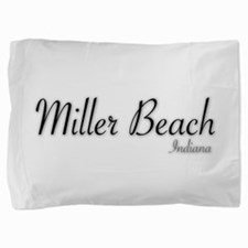 Miller Beach Logo Pillow Sham