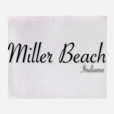 Miller Beach Logo Throw Blanket
