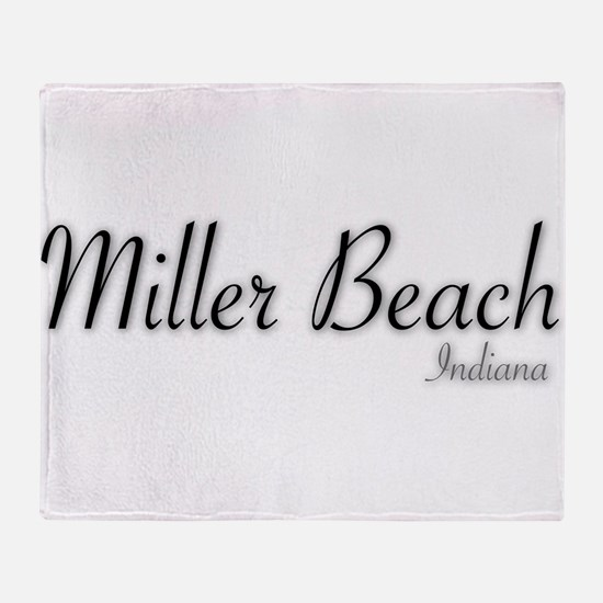 Miller Beach Logo Throw Blanket
