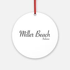 Miller Beach Logo Round Ornament
