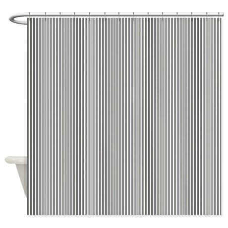 Black White And Ivory Stripes By LH Shower Curtain By